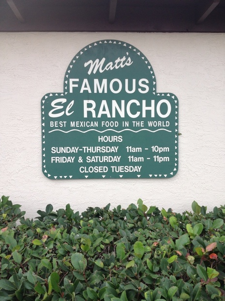 Matt's El Rancho Mexican Restaurant