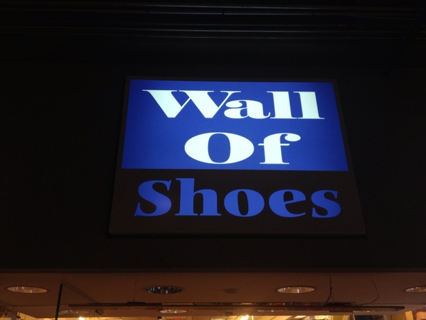 Wall of Shoes