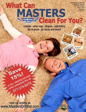 Master Drimist Carpet & Upholstery Cleaning