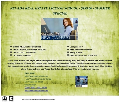 Real Estate School of Nevada